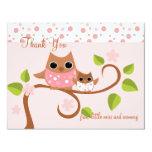 Mama and Baby Owl Card