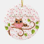 Mama and Baby Owl Christmas Ornaments