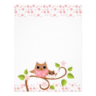 Mama and Baby Owl Customized Letterhead