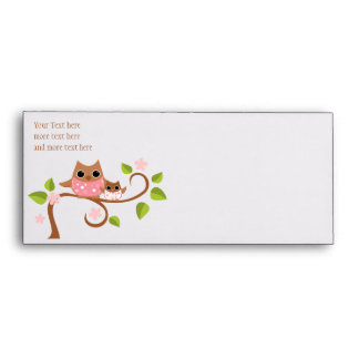 Mama and Baby Owl Envelope