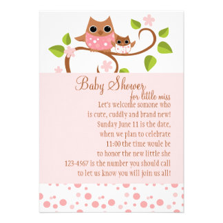 Mama and Baby Owl Custom Announcement