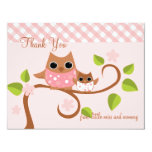 Mama and Baby Owl Invites