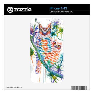 Mama and Baby Owl iPhone 4S Decals