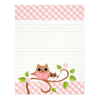 Mama and Baby Owl Letterhead