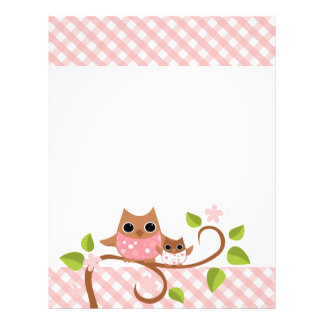 Mama and Baby Owl Personalized Letterhead