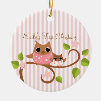 Mama and Baby Owl Ornament