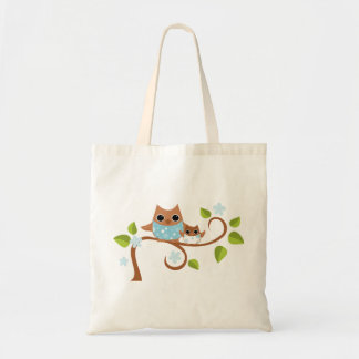 Mama and Baby Owls Canvas Bag