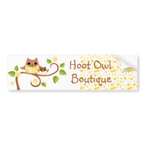 Mama and Baby Owls Bumper Sticker