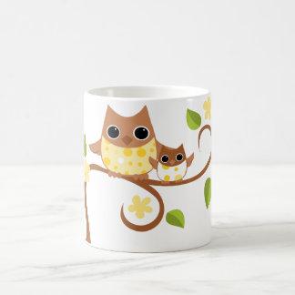 Mama and Baby Owls Coffee Mugs