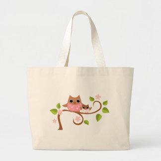 Mama and Baby Owls Jumbo Tote Bag