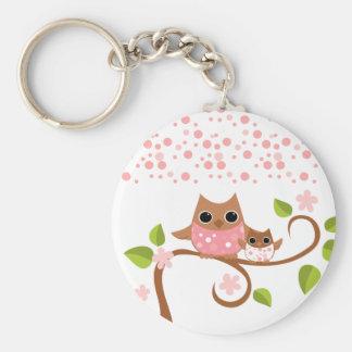 Mama and Baby Owls Keychain