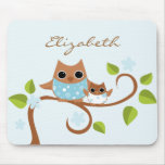 Mama and Baby Owls Mousepad