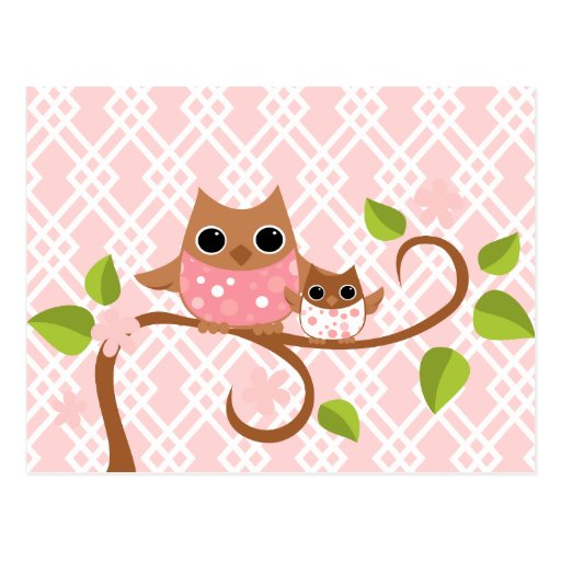 Mama and Baby Owls Postcards