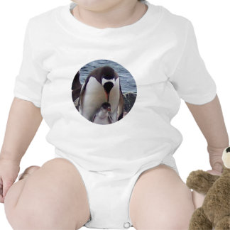 Mama and Baby Penguin Bodysuits