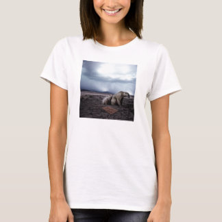 mama and baby polar bear in need of new home T-Shirt