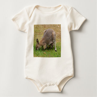 Mama and Baby Pretty Faced Wallaby Baby Bodysuit