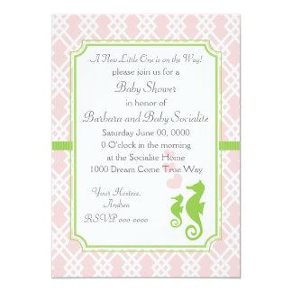 Mama and Baby Seahorse 5x7 Paper Invitation Card