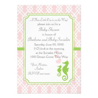 Mama and Baby Seahorse Custom Invitation