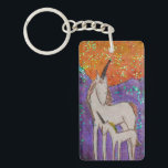 "Mama and baby unicorn keychain<br><div class=""desc"">In 2014, this series of 30 glittery unicorn paintings, &quot;Unicorns of the Sierra, &quot; was created for the 30 Day Art Challenge in Seattle, WA. This was inspired by my all-lady backcountry science crew constantly talking about unicorns and glitter while we were walking through the wilderness of the Sierra Nevada...</div>"