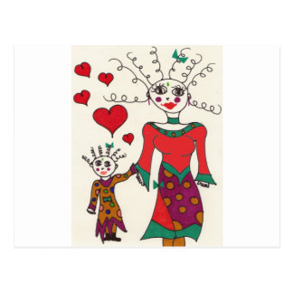 Mama and Child Elf #2 Postcard