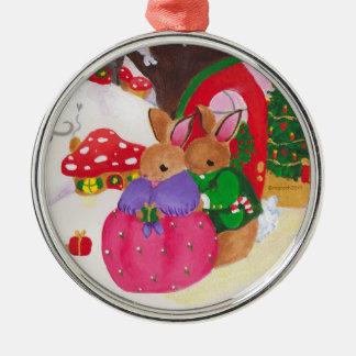 mama and papa bunny ornament