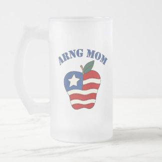 Mamá Apple patriótico de ARNG Tazas De Café