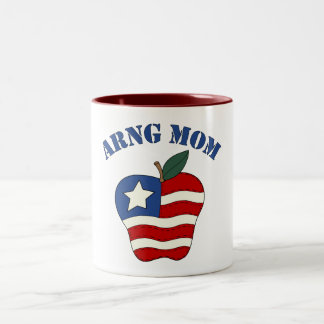 Mamá Apple patriótico de ARNG Taza