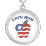Mamá Apple patriótico de USCG Colgante Personalizado