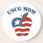 Mamá Apple patriótico de USCG Posavaso Para Bebida