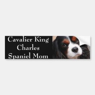 Mamá arrogante del perro de aguas de rey Charles Pegatina Para Auto