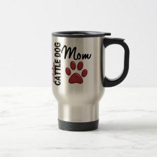 Mamá australiana 2 del perro del ganado tazas