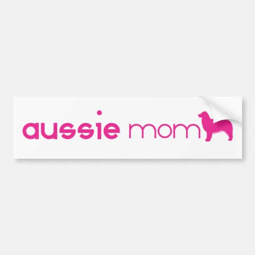 Mamá australiana del pastor pegatina de parachoque