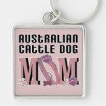 MAMÁ australiana del perro del ganado Llaveros