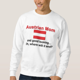Mamá austríaca apuesta sudadera con capucha