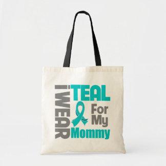 Mamá - ayuda del cáncer ovárico de la cinta del tr bolsas de mano