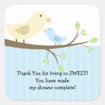Mama & Baby Bird Baby Shower Square Sticker!
