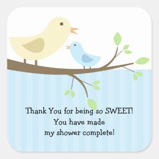 Mama & Baby Bird Baby Shower Square Sticker! Square Sticker