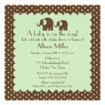 Mama & Baby Elephant Baby Shower Personalized Invitations