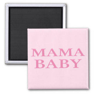 Mama Baby 2 Inch Square Magnet