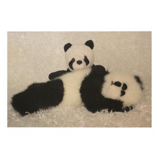 MAMA & BABY PANDA PORTRAIT WOOD WALL ART
