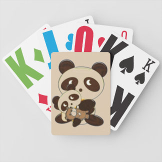 Mama, baby, teddy bear bicycle playing cards