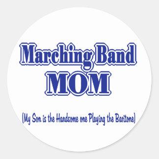 Mamá/barítono de la banda pegatina redonda