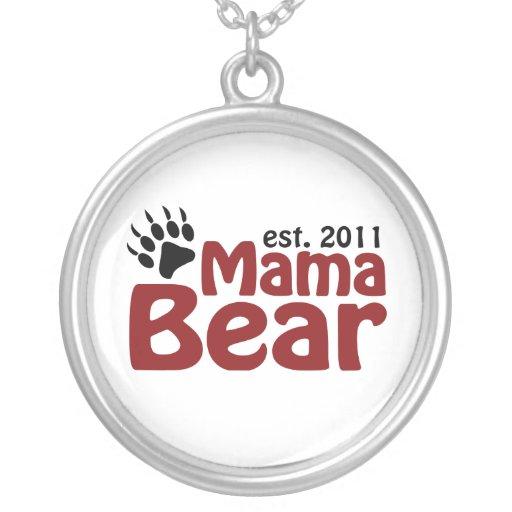 mama bear 2011 round pendant necklace