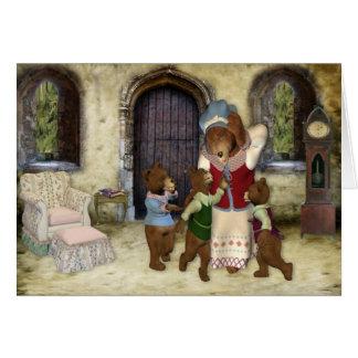 Mamá Bear 3 Cubs Tarjeta De Felicitación