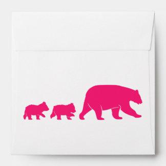Mama Bear and Cubs Birthday Envelope