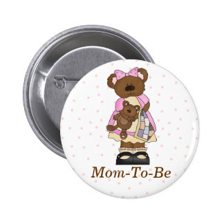 Mama Bear Baby Shower Mommy Pin Button
