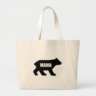 Mama Bear Black Large Tote Bag