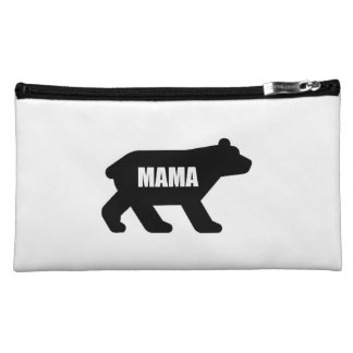 Mama Bear Black Makeup Bag