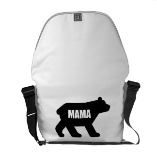 Mama Bear Black Messenger Bag