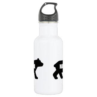 Mama Bear Black Water Bottle